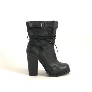 Nine West Vintage America Black Leather Boots 7